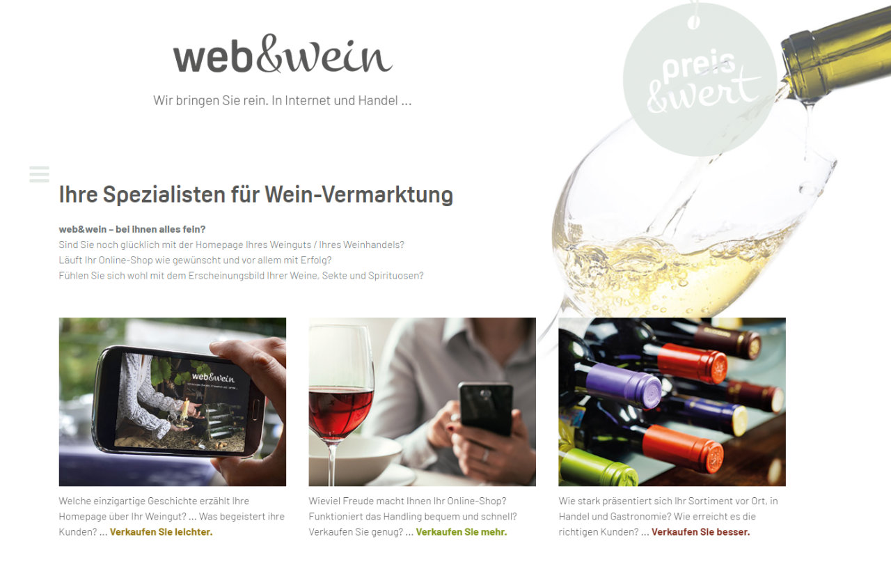 The specialists for wine advertising